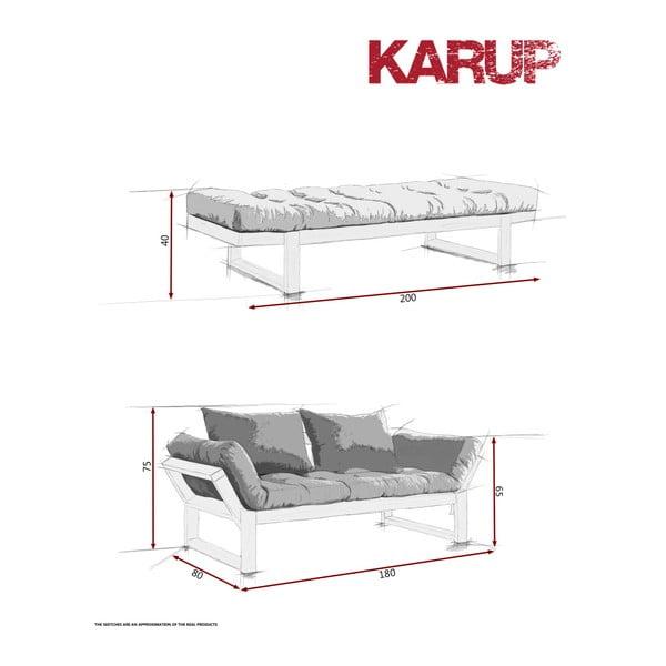 Variabilní pohovka Karup Edge Black/Blue Breeze