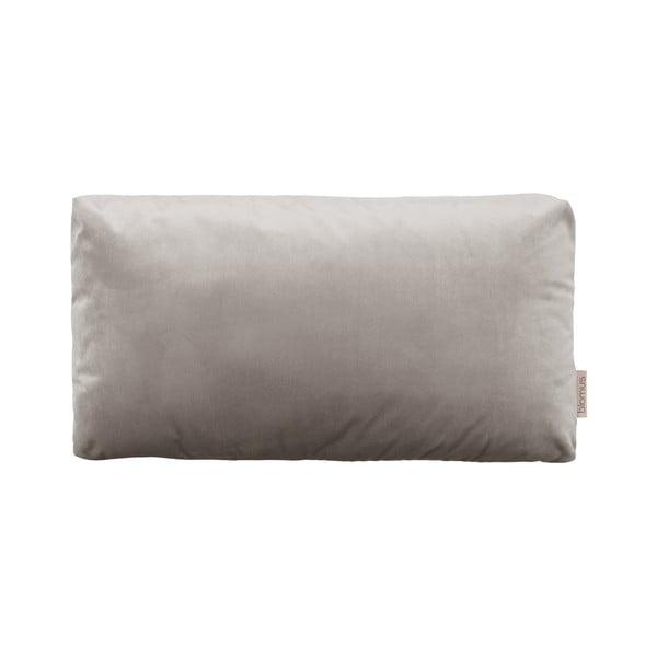 Sivohnedá obliečka na vankúš so zamatovým efektom Blomus, 50 x 30 cm