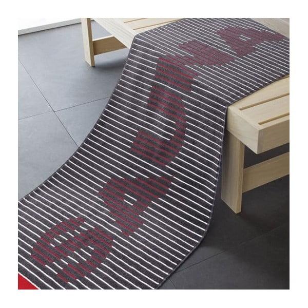Ručník Sauna Black, 180x70 cm