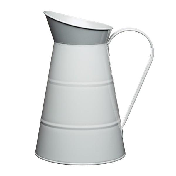 Plechový džbán Nostalgia 2300 ml, světle šedý z kavárny U Kubistů