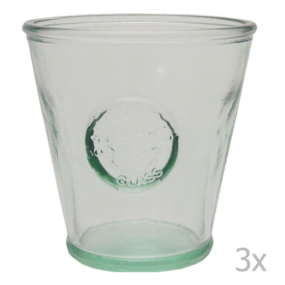 Sada 3 sklenic z recyklovaného skla Ego Dekor Authentic, 250 ml