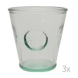 Set 3 pahare din sticlă reciclată Ego Dekor Authentic, 250 ml