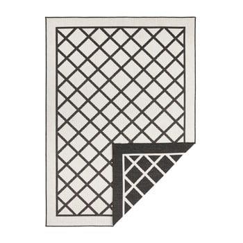 Covor adecvat pentru exterior Bougari Supreme, 230 x 160 cm, negru-crem
