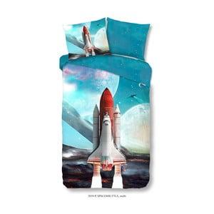 Dětské bavlněné povlečení Muller Textiels Space Shuttle, 140 x 200 cm