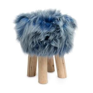 Taburet cu blană Sheepo, albastru