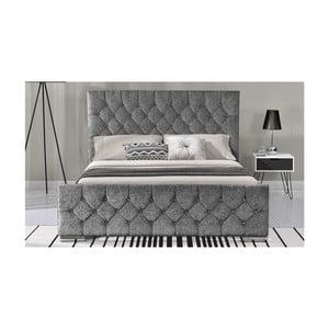 Šedá dvoulůžková postel VIDA Living Carina, 208 x 143 cm