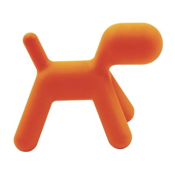 Puppy narancssárga, kutyaformájú gyerekülőke, magasság 34,5 cm - Magis