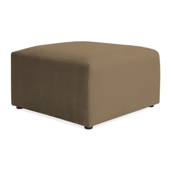 Hnědošedá dvoumístná modulová pohovka s podnožkou Vivonita Velvet Cube