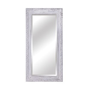 Zrcadlo v bílém dřevěném rámu Moycor, 110 x 180 cm