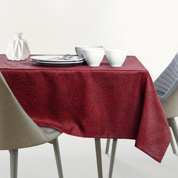 Față de masă rotundă AmeliaHome Gaia Claret Round, ⌀ 140 cm, roșu închis