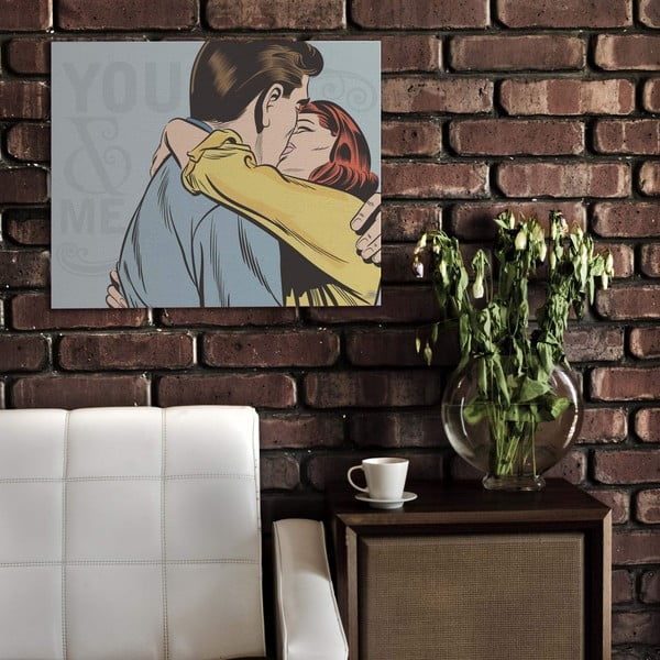 Cedule Kiss, 56x45 cm