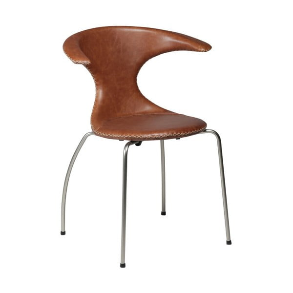 Tmavě hnědá kožená židle DAN-FORM Denmark Flair