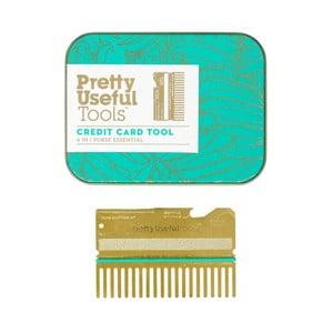 Multifunkční nástroj ve tvaru kreditní karty Pretty Useful Tools Gold