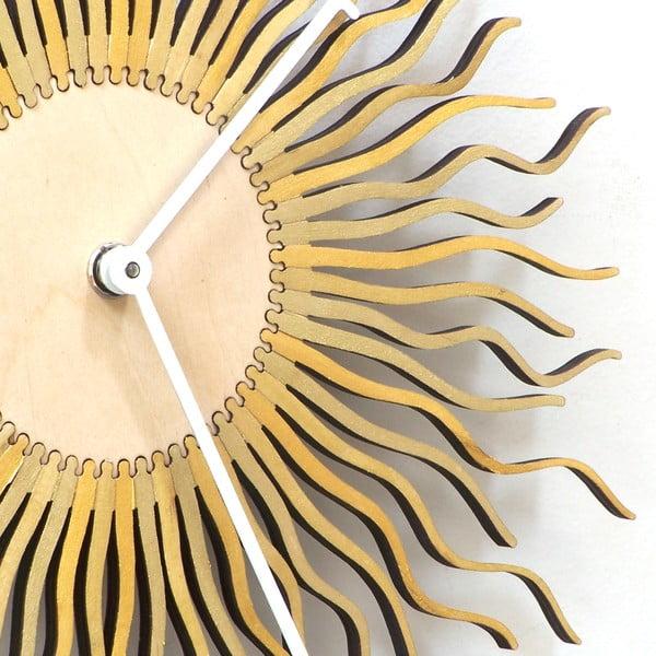 Dřevěné hodiny Shockhead, 29 cm