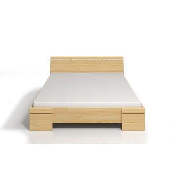 Pat dublu din lemn de pin, cu spațiu de depozitare, SKANDICA Sparta Maxi, 140 x 200 cm imagine