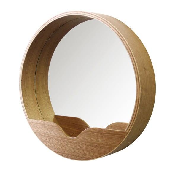 Nástěnné zrcadlo s odkládacím prostorem Zuiver Round Wall,⌀ 40cm