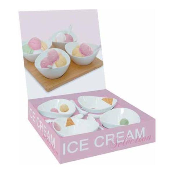 Set 4 servírovacích misek Ice Cream