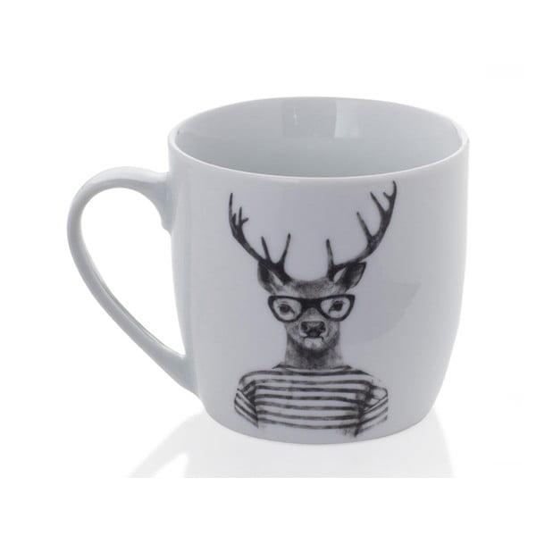 Hipster Stag porcelánbögre, 350 ml - Sabichi