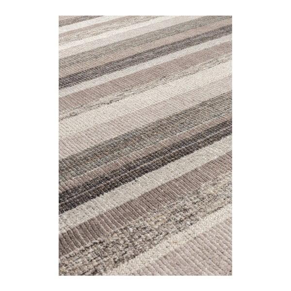 Šedý ručně vyráběný koberec Dutchbone Arizona, 170x240jcm