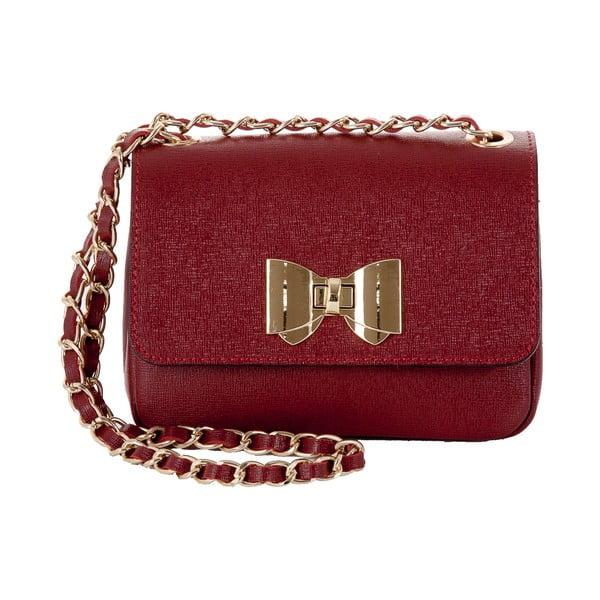 Kožená kabelka Andrea Cardone 2020 Ruby Red