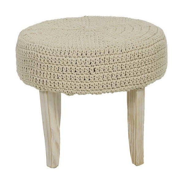 Stolička s pleteným sedátkem Cream, 48x40 cm