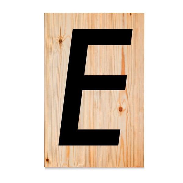Dřevěná cedule Letters E
