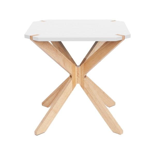 Mister fehér tárolóasztal, 45x45cm - Leitmotiv