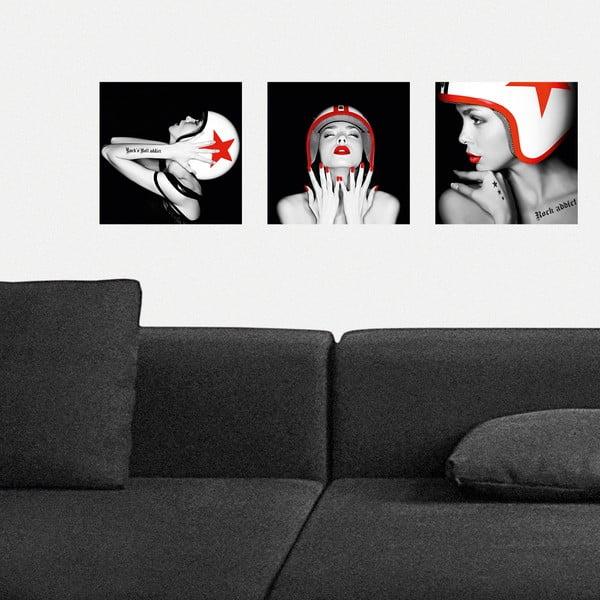 Samolepící obrazy S helmou, 30x30 cm