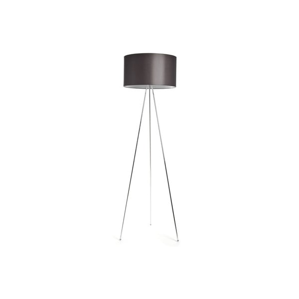 Tripod lampa Simple Chrome/Brown