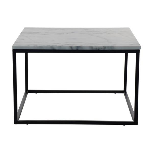 Mramorový konferenčný stolík s čiernou konštrukciou RGE Accent, 75 × 75 cm