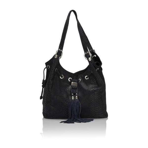 Modrá kožená kabelka Lisa Minardi Divisa