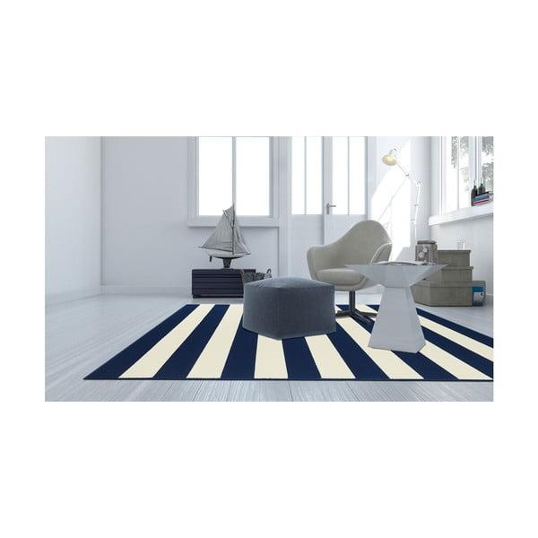 Modrý vysoce odolný koberec vhodný do exteriéru Webtappeti Stripes,133x190cm