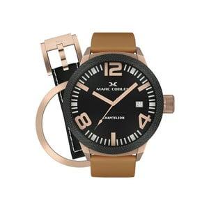 Pánské hodinky Marc Coblen s páskem a kroužkem navíc P38