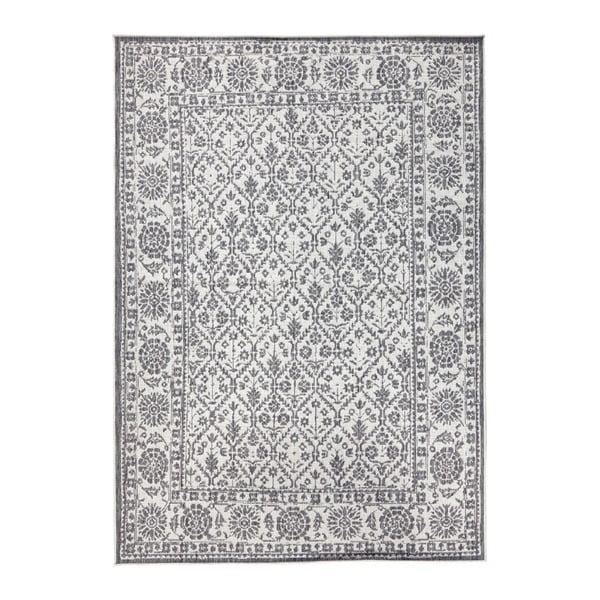 Sivo-krémový obojstranný koberec vhodný aj do exteriéru Bougari Curacao, 120 × 170 cm