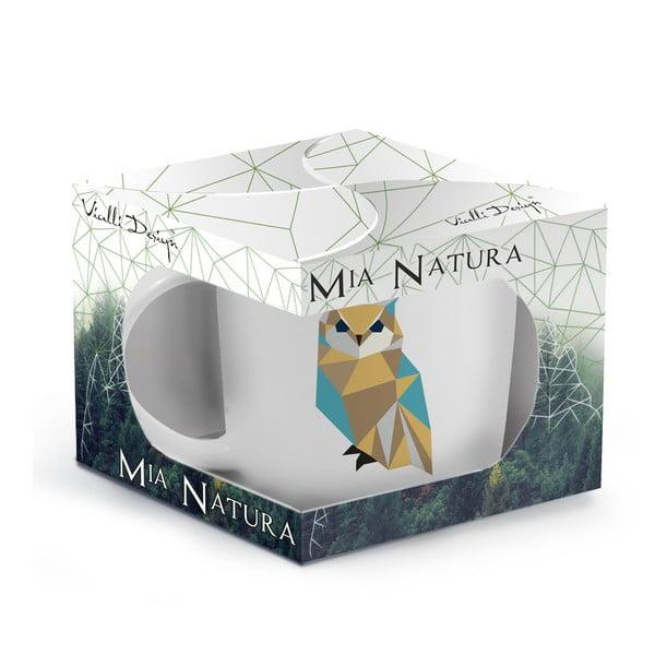 Porcelánový hrnek Vialli Design Wild Owl, 370 ml