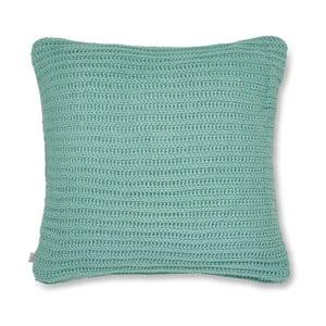 Tyrkysový pletený povlak na polštář Catherine Lansfield Knit, 45x45cm