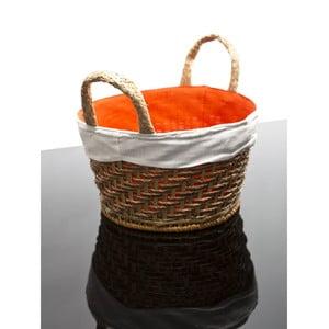Proutěný košík Lindsey, oranžový