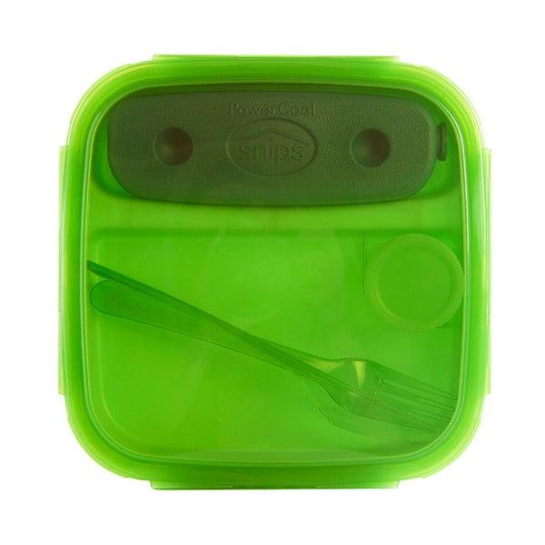 Cutie prânz cu tacâmuri Snips Lunch, verde