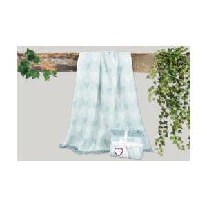 Mátově zelená deka s příměsí bavlny Dolce Bonita Kalp, 155 x 125 cm