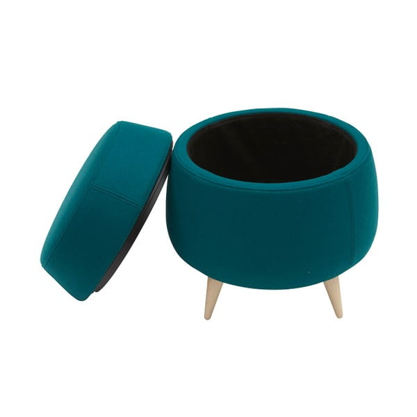 Tyrkysová taburetka s úložným prostorem Softline Pod