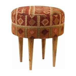 Červená vzorovaná stolička z mangového dřeva Støraa Marion