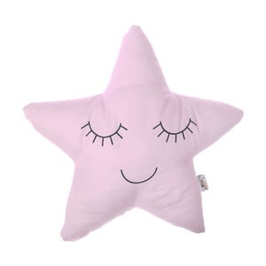 Světle růžový dětský polštářek s příměsí bavlny Apolena Pillow Toy Star, 35 x 35 cm