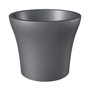 Venkovní květináč Metallic Grey, 40 cm