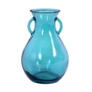 Skleněná váza z recyklovaného skla Ego Dekor Cantaro Aqua, 2,15l
