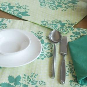 Textilní podložky a ubrousky Tamara Green Flowers, 12 ks