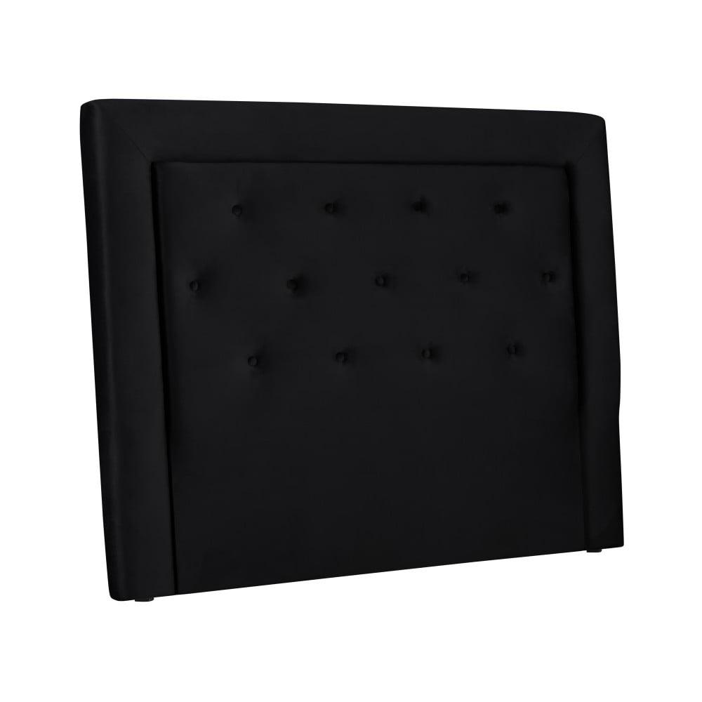 Černé čelo postele Cosmopolitan Design Cloud, šířka 140 cm