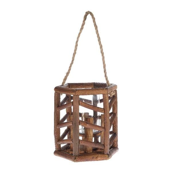Dřevěná lucerna Bamboo, 24x27 cm