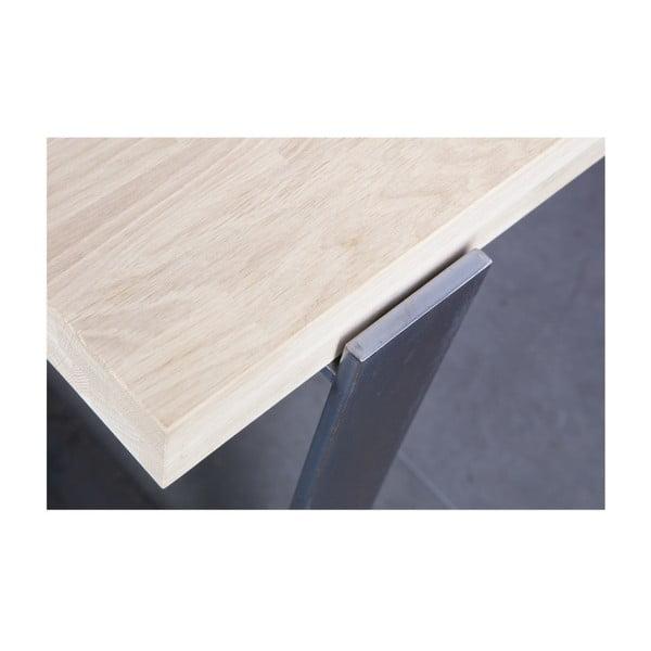 Jídelní stůl s přírodní deskou z dubového dřeva De Eekhoorn Jamie, 90x220cm