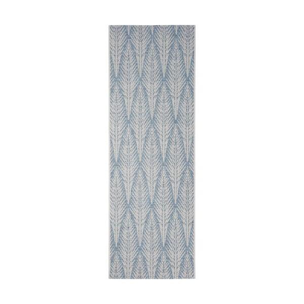 Covor potrivit pentru exterior Bougari Pella, 70 x 200 cm, gri - albastru