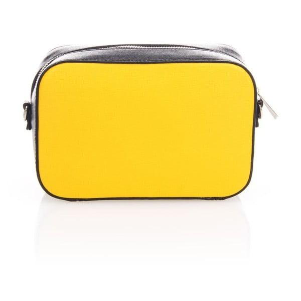 Kožené psaníčko  Krole Kath, žlutá/černá